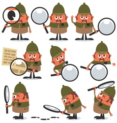 Detective Pack vector image vector image