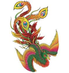 Japanese Style Phoenix vector image vector image