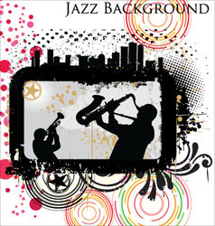 Retro Jazz background vector image vector image