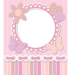 Romantic pink frame vector image vector image
