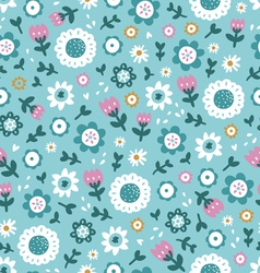 Simple floral pattern vector image vector image