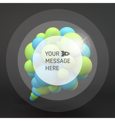 3d Abstract Spheres Composition Speech icon vector image