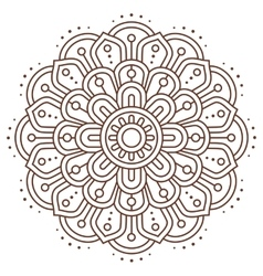 Abstract indian mandala line vector image