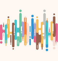 Abstract multicolor rounded shapes lines vector