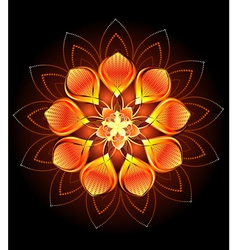 Abstract Orange Flower vector