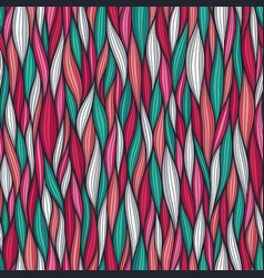 Abstract wavy lines seamless pattern floral vector