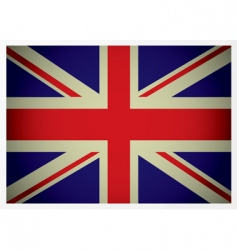 aged British flag vector image