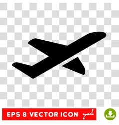 Airplane Takeoff Eps Icon vector