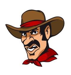 American cowboy vector image