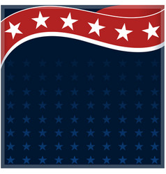 american flag frame background vector image