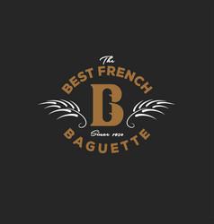 Baguette logo bakery emblem vector