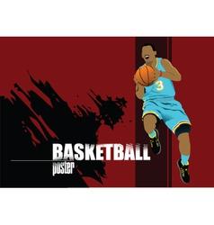 Basketball card vector