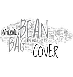 Bean bag cover text word cloud concept vector
