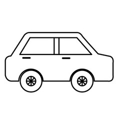 car sedan isolated icon vector image