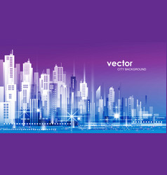 City background with architecture skyscrapers vector