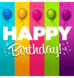 colorful happy birthday card vector image