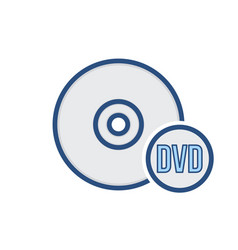 Compact disk drive dvd storage icon vector