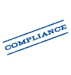 Compliance Watermark Stamp vector