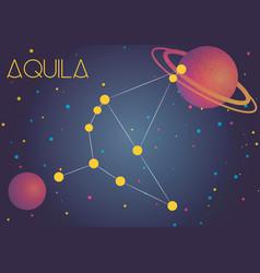 Constellation aquila vector