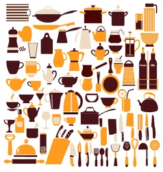 cooking equipment cooking utensils vector image
