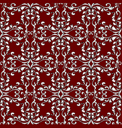 damask baroque vintage seamless pattern vector image
