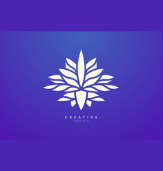 Design abstract flower and leaf logo for spa vector