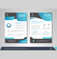 design brochures vector image