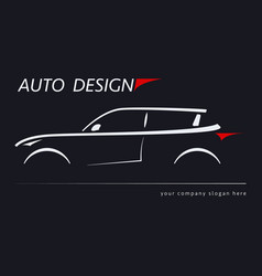 design car concept automotive topics vector image