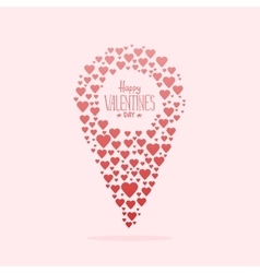 doodle icon map pointer with heart vector image