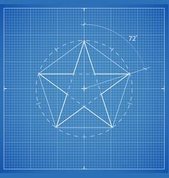 Drawing star pentahedron vector
