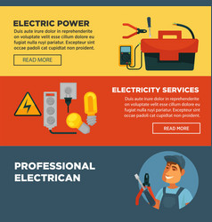 electrician professional electricity repair vector image