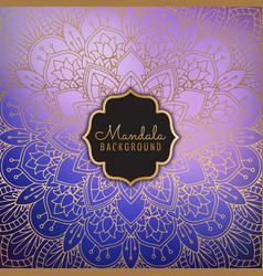 Elegant mandala background vector