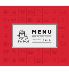 Favorite Food Delivery Abstract Logo And vector