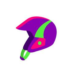 flat style skiing snowboarding plastic helmet vector image