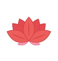 Flower lotus traditional oriental element vector