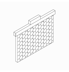 Frame with honeycombs icon isometric 3d style vector image