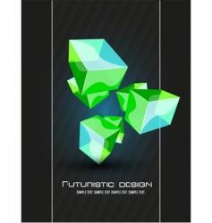 Futuristic dimensional design vector