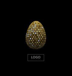 Golden mosaic spherical shape vector