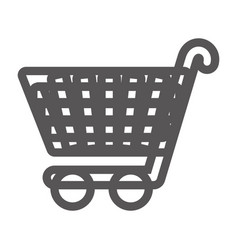 Grayscale contour with shopping cart vector