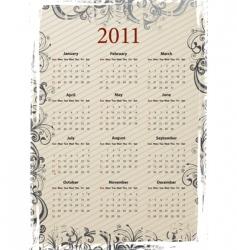 grungy calendar 2011 vector image