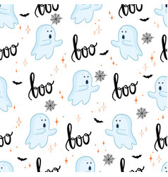 Halloween background seamless pattern cute vector