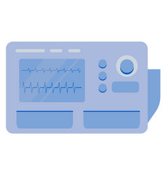 Healthcare technology online cardiogram vector