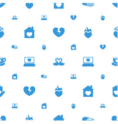 Heart icons pattern seamless white background vector