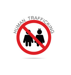 human trafficking sign vector image
