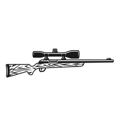 hunting rifle with optic sight object vector image