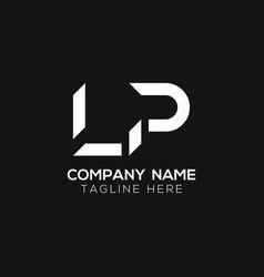 Initial lp letter business logo design template vector