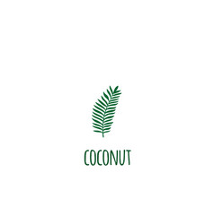isolated tropical jungle green palm leaves vector image