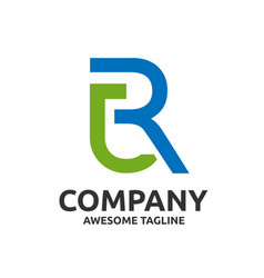 letter rj logo design vector image