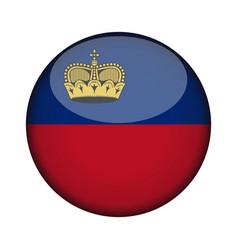 Liechtenstein flag in glossy round button icon vector