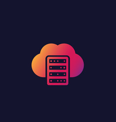 Mainframe hosting cloud storage icon vector